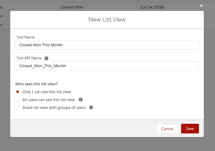 Create a List View in Lightning Experience