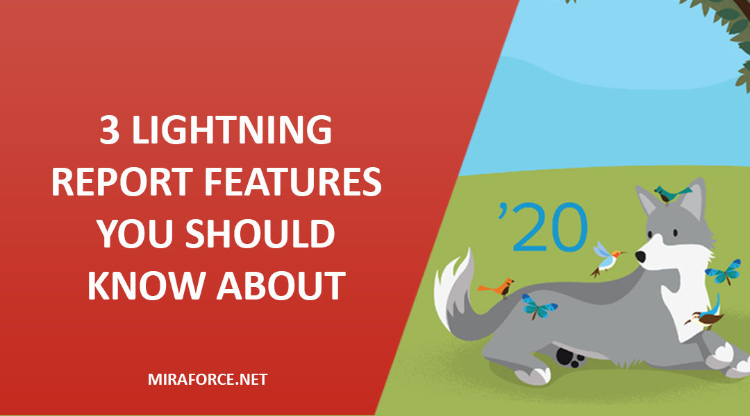 3 Lightning Report Features You Should Know About - Spring '20 Release