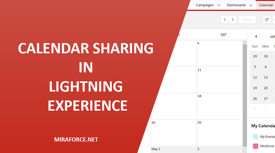 Calendar Sharing in Lightning Experience