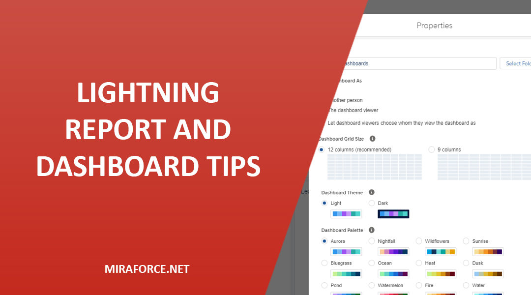 Lightning Report and Dashboard Tips
