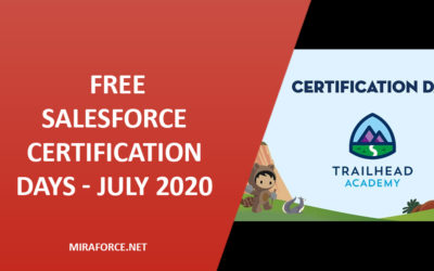 Free Salesforce Certification Days JULY 2020