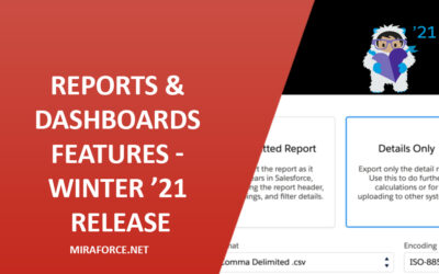 Lightning Reports & Dashboards Features – Winter '21 Release