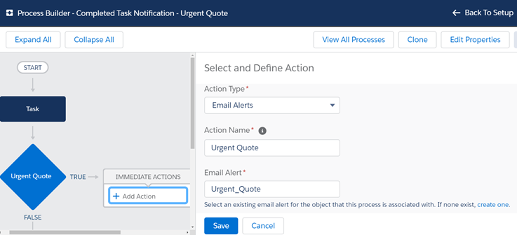 Add Action Process Builder