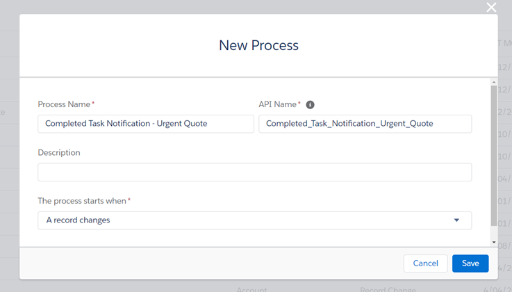Create Process Builder in Salesforce