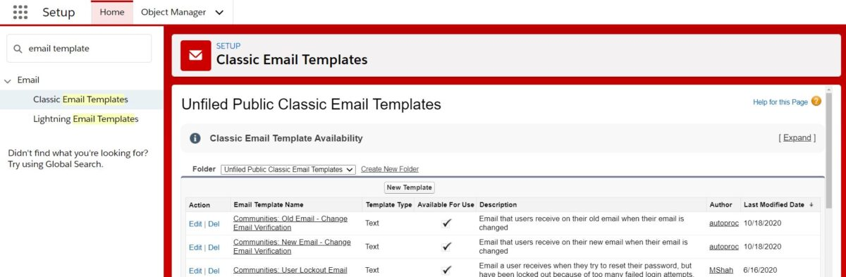 New Email Template