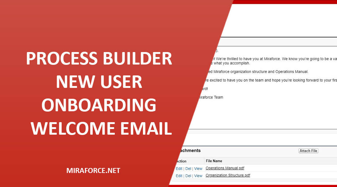 Process Builder – New User Onboarding Welcome Email