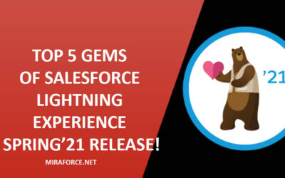 Top 5 Gems of Salesforce Lightning Experience Spring'21 Release!